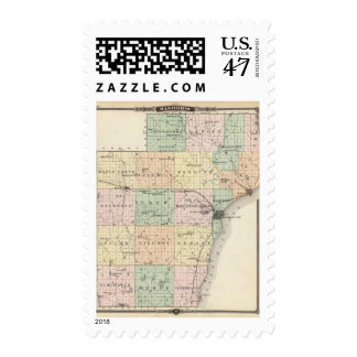 Map of Manitowoc County, State of Wisconsin Postage