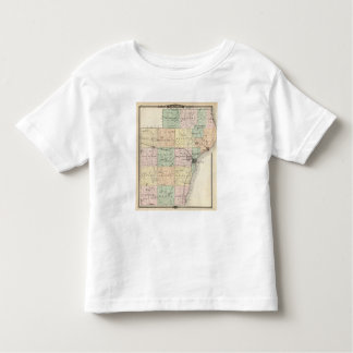 Map of Manitowoc County, State of Wisconsin Toddler T-shirt