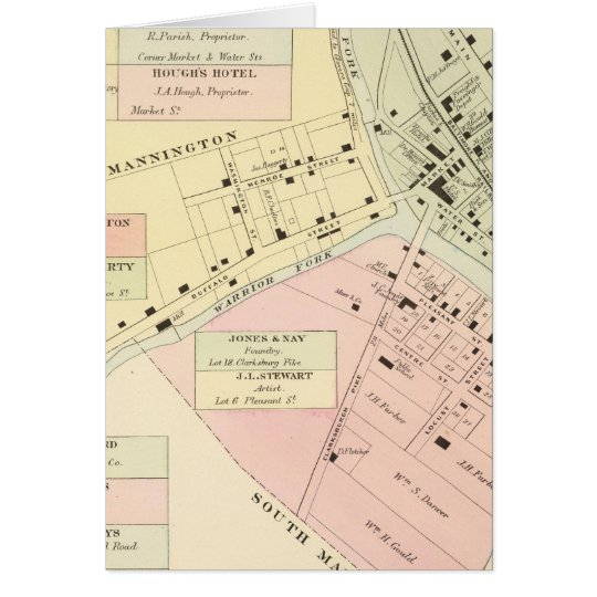 Map of Mannington, West Virginia Card