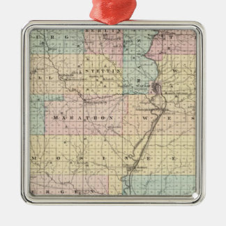 Map of Marathon County Christmas Ornaments
