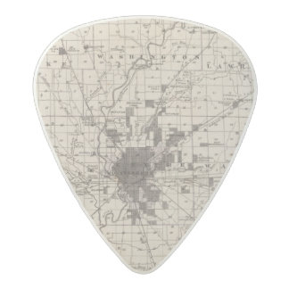 Map of Marion County 2 Acetal Guitar Pick