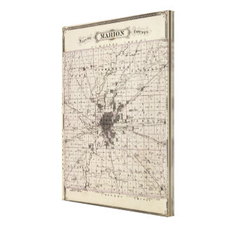 Map of Marion County 2 Canvas Print