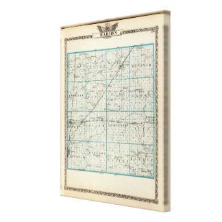 Map of Marion County Canvas Print