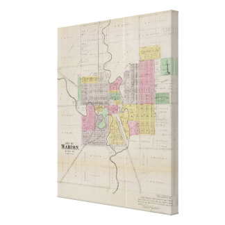 Map of Marion, Marion County, Kansas Canvas Print