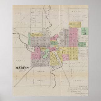 Map of Marion, Marion County, Kansas Print
