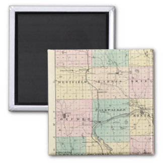 Map of Marquette County & Westfield 2 Inch Square Magnet