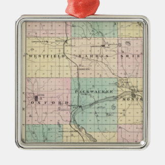 Map of Marquette County & Westfield Christmas Tree Ornament