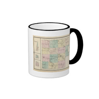Map of Marquette County & Westfield Ringer Mug