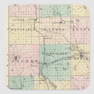 Map of Marquette County & Westfield Square Sticker