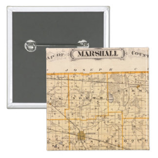 Map of Marshall County Pinback Button