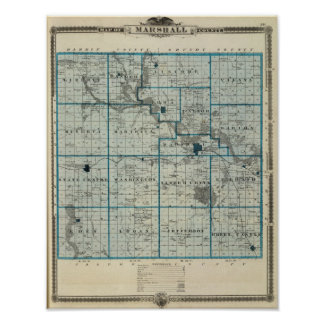 Map of Marshall County, State of Iowa Poster