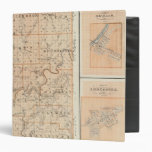 Map of Martin County with Shoals, Loogootee 3 Ring Binder