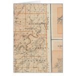 Map of Martin County with Shoals, Loogootee Greeting Card