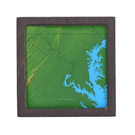 Map of Maryland 2 Jewelry Box