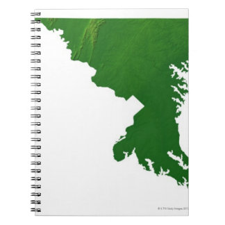 Map of Maryland 3 Spiral Notebook
