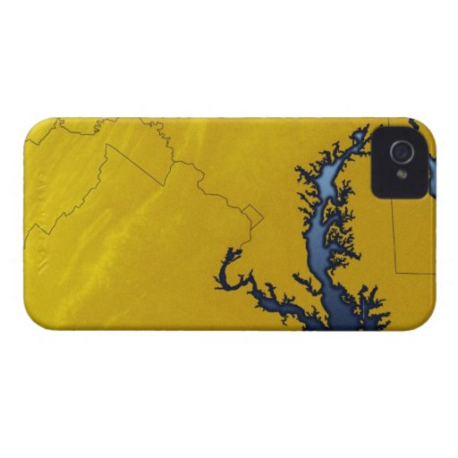 Map of Maryland 4 iPhone 4 Cases