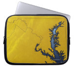 Map of Maryland 4 Laptop Computer Sleeves