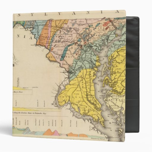 Map of Maryland and the District of Columbia Vinyl Binders