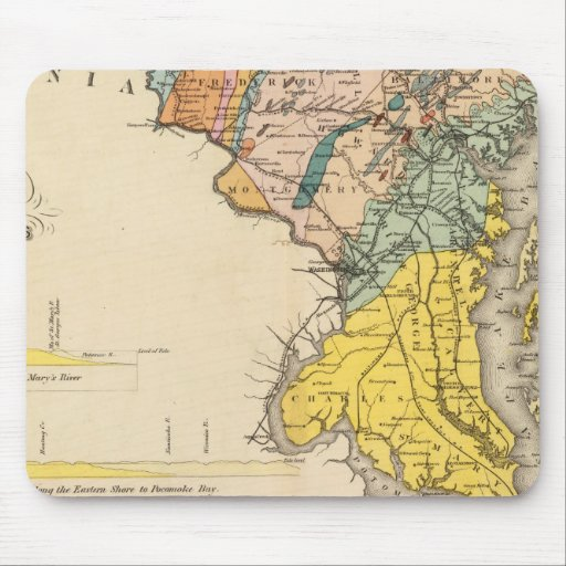 Map of Maryland and the District of Columbia Mousepad