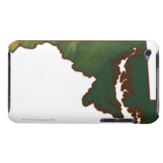 Map of Maryland iPod Case-Mate Case