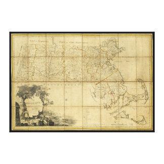 Map of Massachusetts (1802) Canvas Print