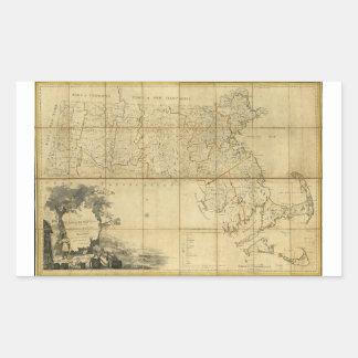 Map of Massachusetts (1802) Rectangular Sticker