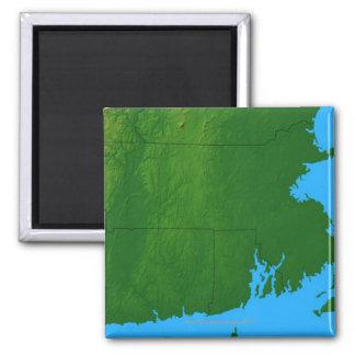 Map of Massachusetts 2 2 Inch Square Magnet