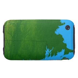 Map of Massachusetts 2 Tough iPhone 3 Cases