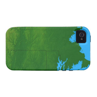 Map of Massachusetts 2 Case-Mate iPhone 4 Covers
