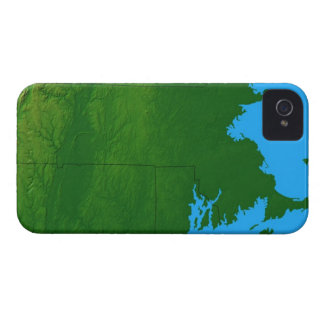 Map of Massachusetts 2 iPhone 4 Case-Mate Cases