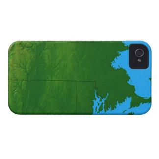 Map of Massachusetts 2 iPhone 4 Covers