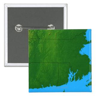 Map of Massachusetts 2 Pinback Button