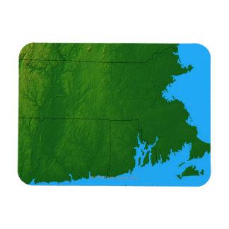 Map of Massachusetts 2 Rectangular Photo Magnet
