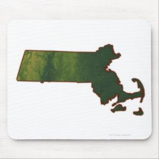 Map of Massachusetts 3 Mouse Pad