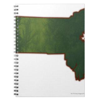 Map of Massachusetts 3 Notebook