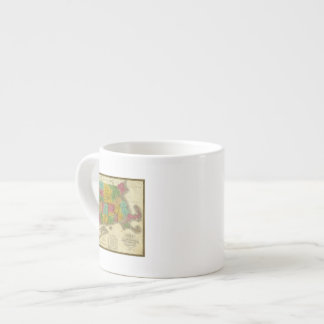 Map of Massachusetts and Connecticut 6 Oz Ceramic Espresso Cup