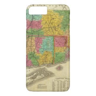 Map of Massachusetts and Connecticut iPhone 8 Plus/7 Plus Case