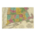 Map of Massachusetts and Connecticut Laminated Place Mat