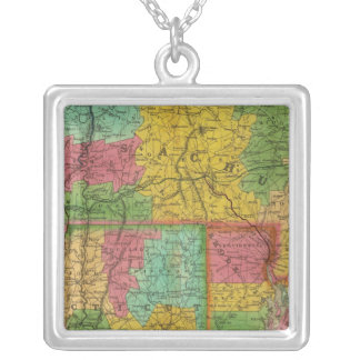 Map of Massachusetts and Connecticut Necklaces