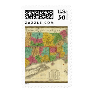 Map of Massachusetts and Connecticut Postage