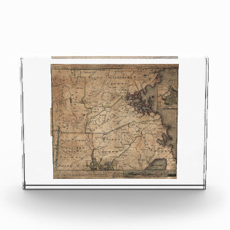 Map of Massachusetts by Bernard Romans (1775) Acrylic Award