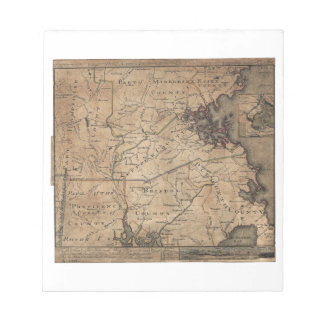 Map of Massachusetts by Bernard Romans (1775) Notepad