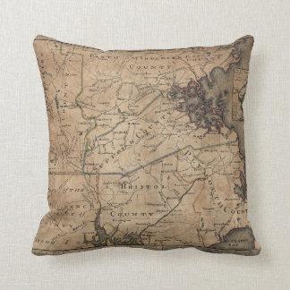 Map of Massachusetts by Bernard Romans (1775) Throw Pillows