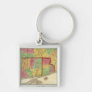 Map of Massachusetts Connecticut And Rhode Island Keychain