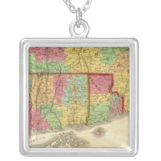 Map of Massachusetts Connecticut And Rhode Island Custom Necklace