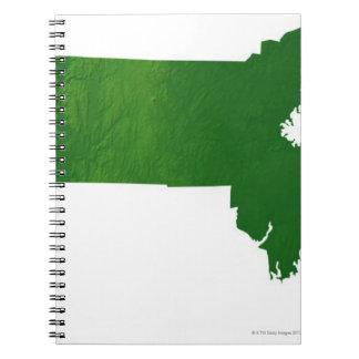 Map of Massachusetts Spiral Notebooks