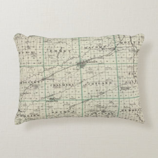 Map of McDonough County, Rushville Accent Pillow