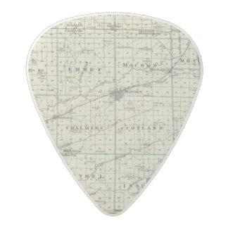 Map of McDonough County, Rushville Acetal Guitar Pick
