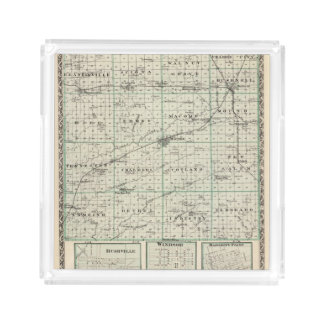 Map of McDonough County, Rushville Acrylic Tray