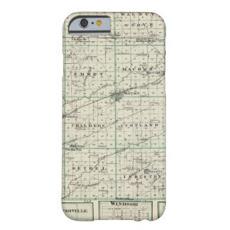 Map of McDonough County, Rushville Barely There iPhone 6 Case